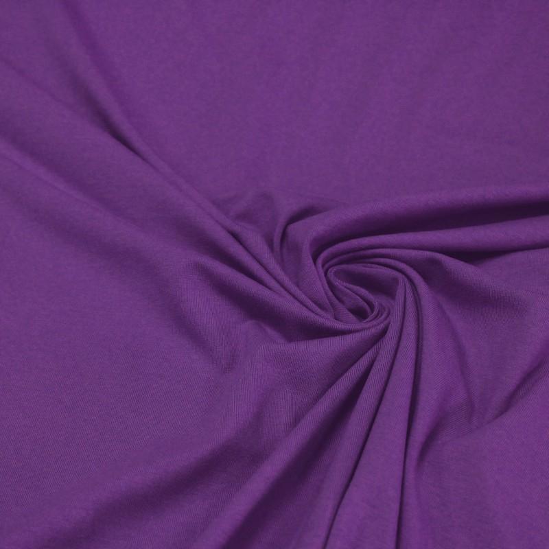 Tissu Jersey de coton violet uni - 160 cm (tissuspapi.com)