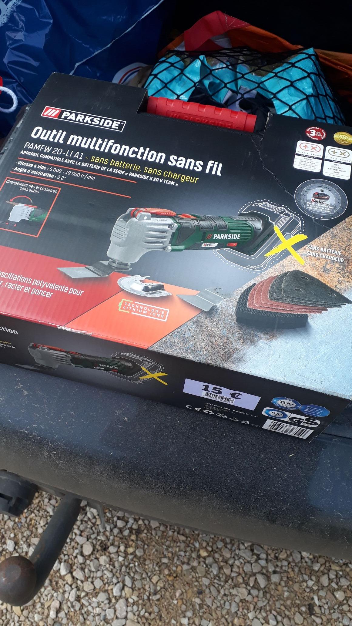 Outil multifonction sans fil Parkside PAMFW 20-LI A1 (Sans batterie, ni chargeur) - La Tour du Pin (38)