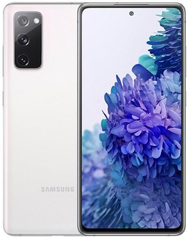 "Smartphone 6.5"" Samsung Galaxy S20 FE 5G - full HD+, SnapDragon 865, 6 Go de RAM, 128 Go, blanc (+ 25.45€ en Rakuten Points)"