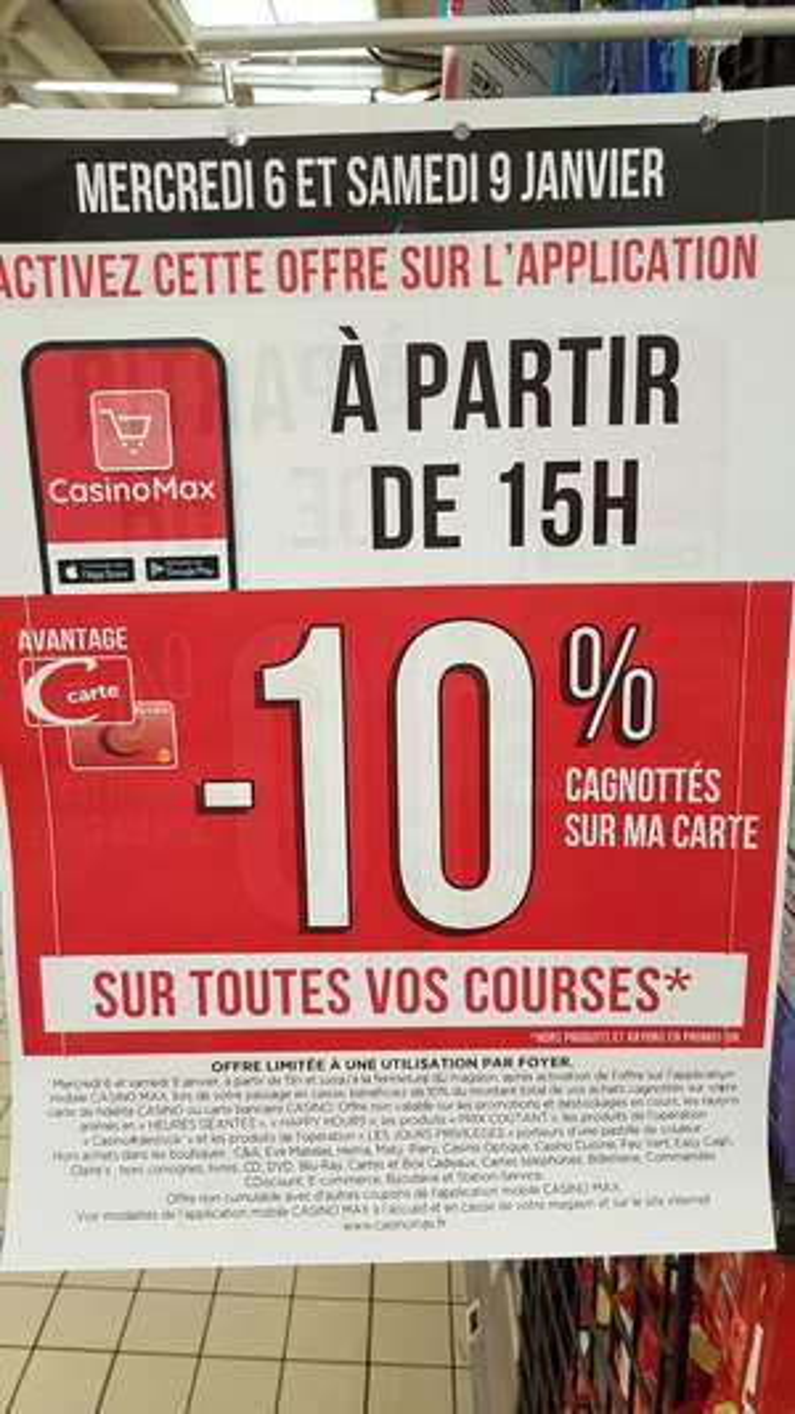 [Casino Max] 10% remboursés sur vos courses (Hors exceptions/promotions) - Angoulême (16)