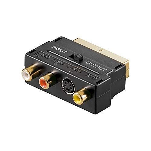 Adaptateur Scart vers Audio-Vidéo Composite et S-Video, in/Out Goobay (Vendeur tiers)