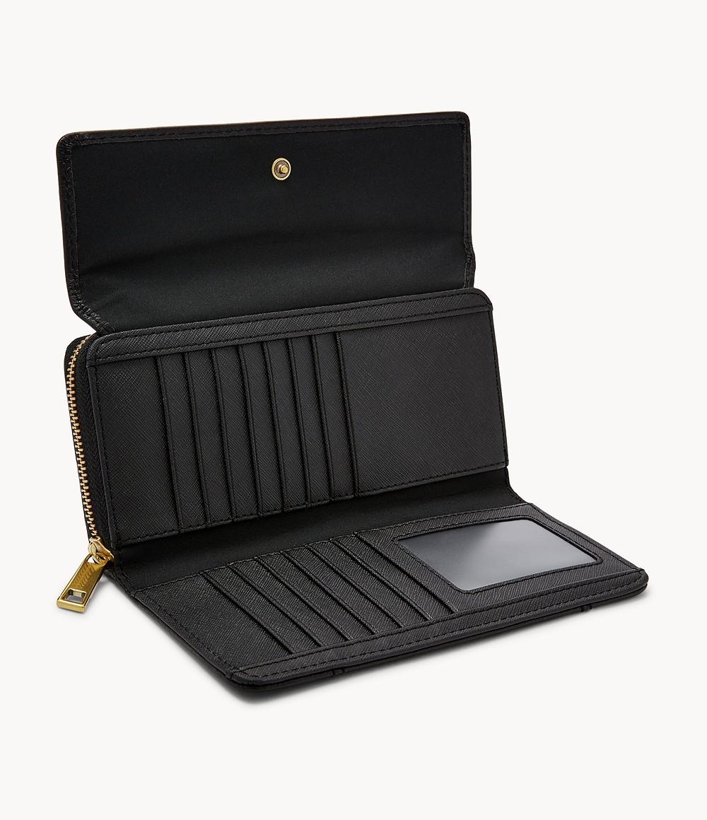 Porte-monnaie en cuir à rabat Fossil GM Jori RFID