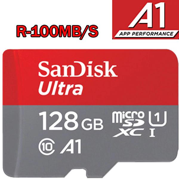 Carte mémoire MicroSD SanDisk Ultra - 128Go