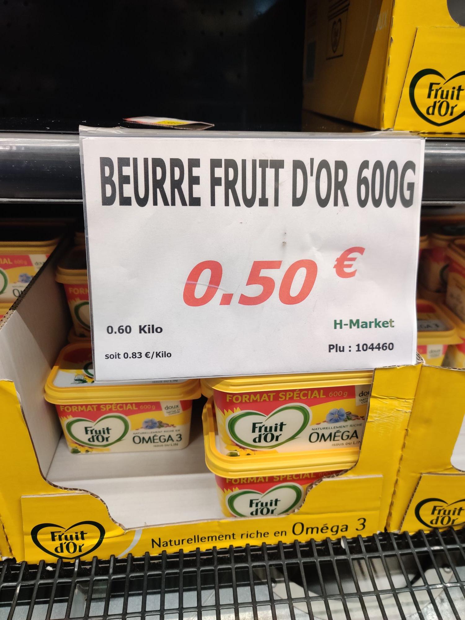 Margarine fruit d'or Omega 3 600g - H Market (Saint-Ouen-l'Aumône 95)