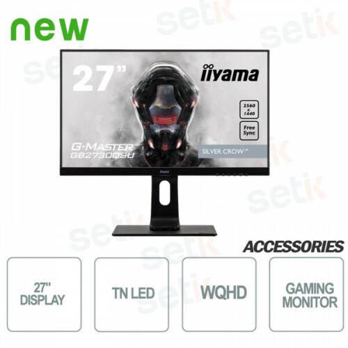 "Ecran PC 27"" Iiyama GB2730QSU-B1 - WQHD, Dalle TN, 1ms, Freesync 144Hz"