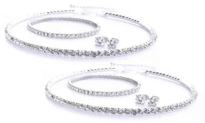 Parure de bijoux ornés de cristaux Swarovski