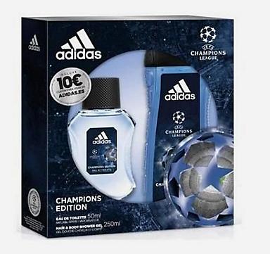 Coffret Adidas Uefa 4 Champions Edition - 250ml (Via Retrait en magasin)