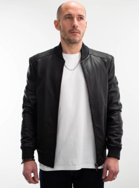 Sélection de Blousons Cuirs en promotion - Ex : Teddy en cuir noir Joe