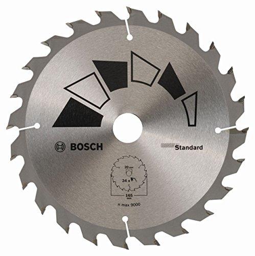 Lame de scie circulaire Bosch 2609256B55 - 24 dents, 165 mm, bague de réduction 20/16, Largeur de coupe 1,6 mm