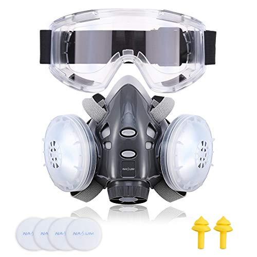 Masque de Filtration 2 filtres Nasum + 2 cotons filtrants + Bouchons d'Oreille + Lunettes (Vendeur Tiers)