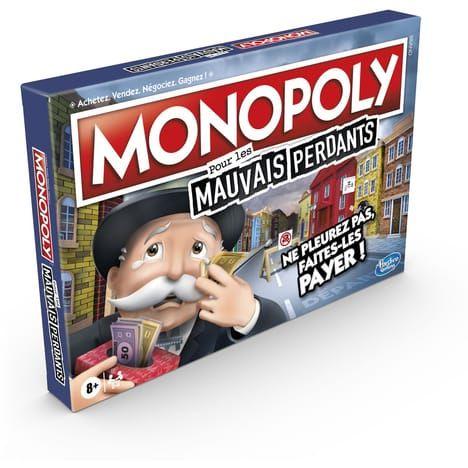 Jeu de société Monopoly Mauvais Perdants (via 4.49€ sur la carte fidélité) - Retrait 1H gratuit en magasin