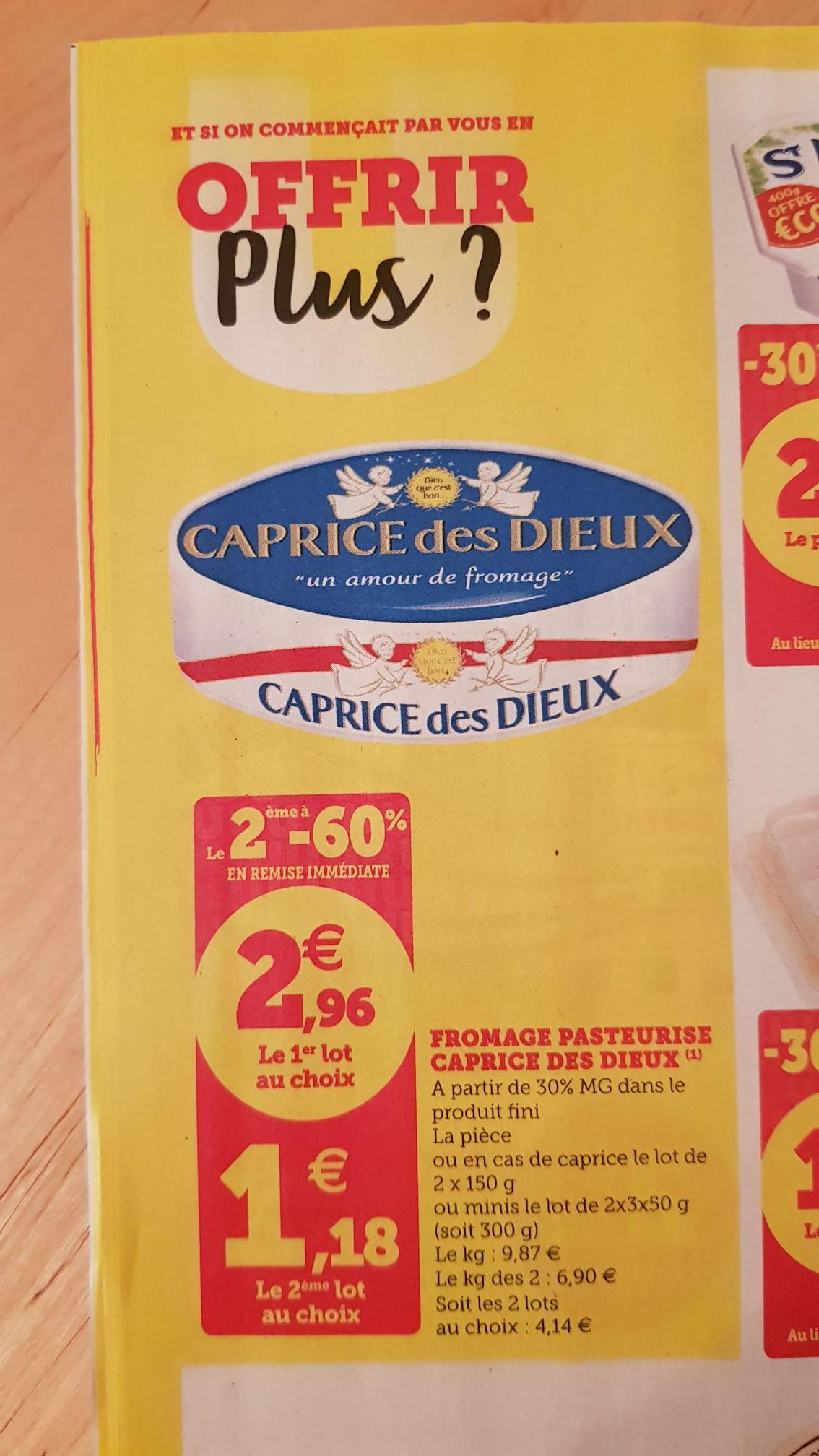 Lot de 2 fromages caprice des dieux - 150g
