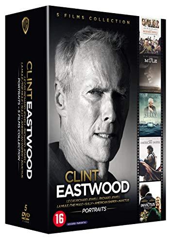 Coffret Blu-ray : Clint Eastwood Portraits : Le Cas Richard Jewell + La Mule + Sully + American Sniper + Invictus
