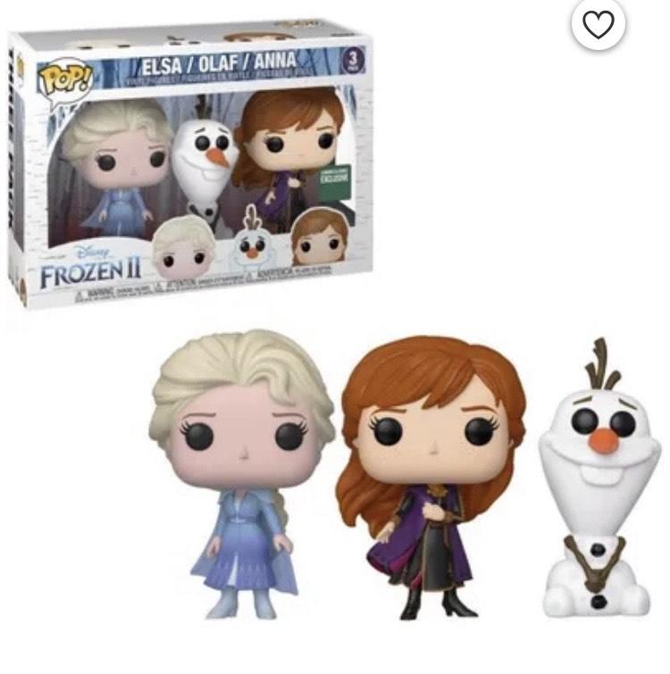 [Cdiscount à volonté] Coffret Figurines Funko Pop! Disney : La Reine des Neiges 2 - Elsa / Olaf / Anna