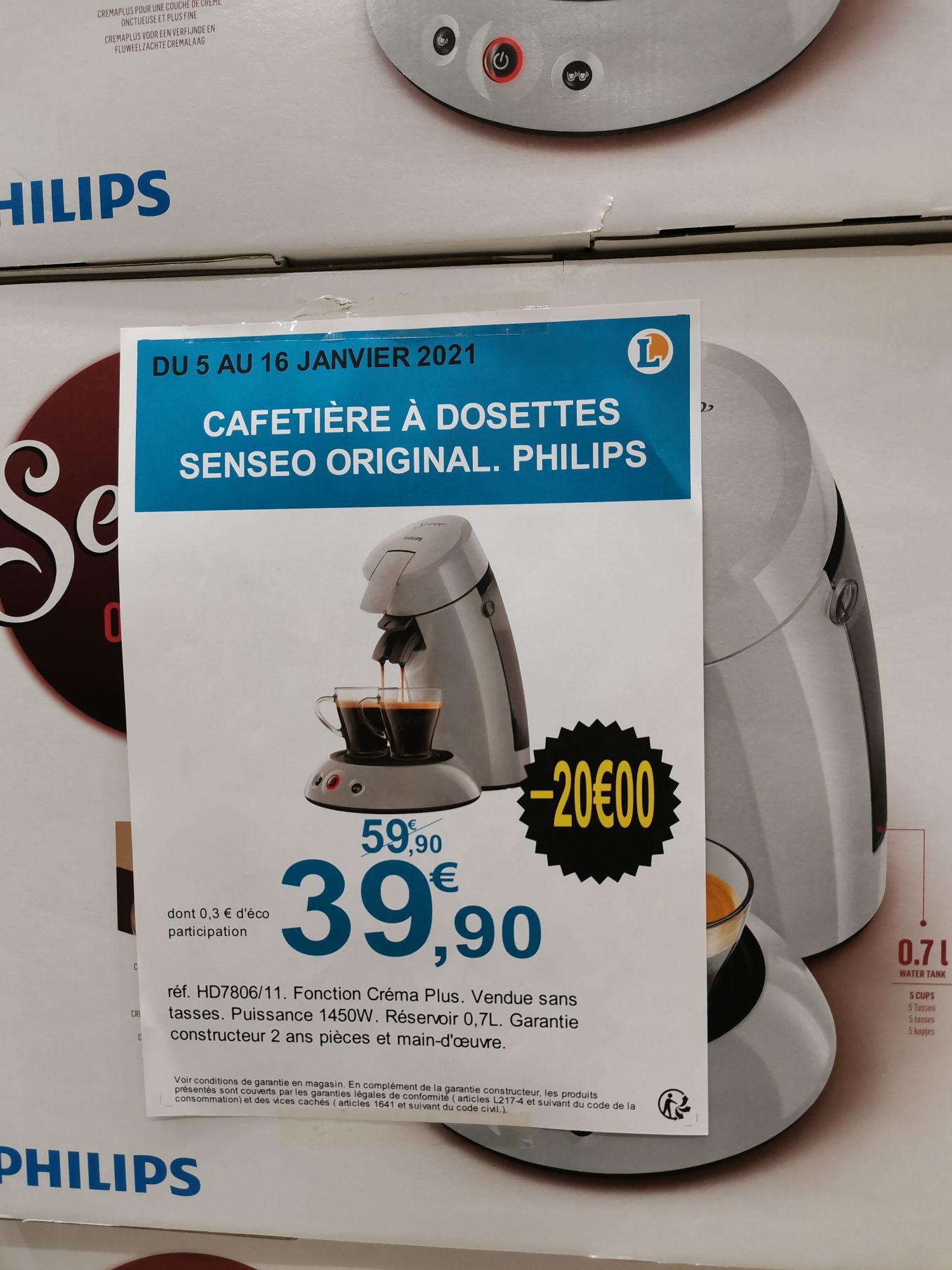 Cafetière Philips Senseo Original HD7806/11- Leclerc Meaux (77)
