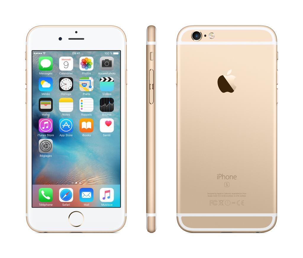 "Smartphone 4.7"" iPhone 6S 128 Go - Or + 25€ offerts en bon d'achat"