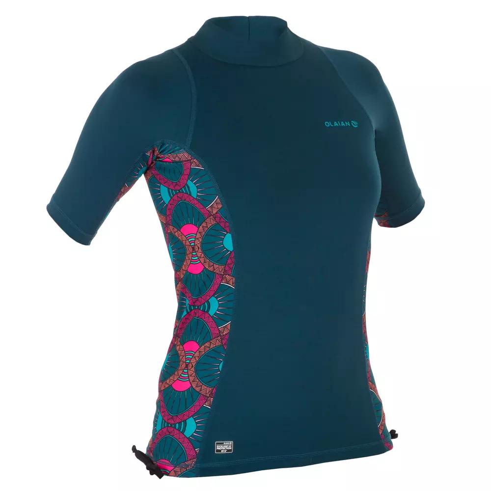 T-shirt à manches courtes pour Femme Anti-UV Olaian Top 500 - Taille au choix