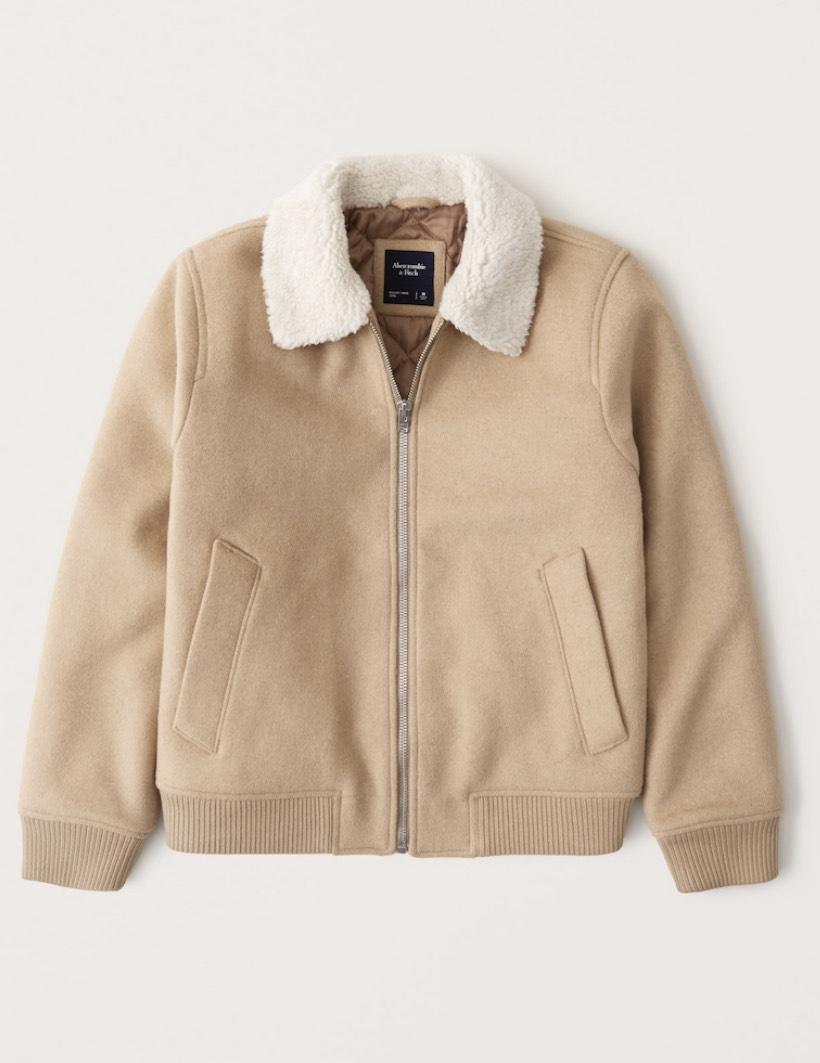 Blouson aviateur en laine Abercrombie - Toutes tailles