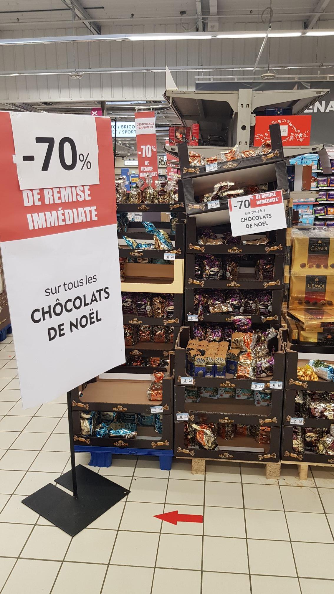 70% de remise immédiate sur les Chocolats de Noël - Macon (71)