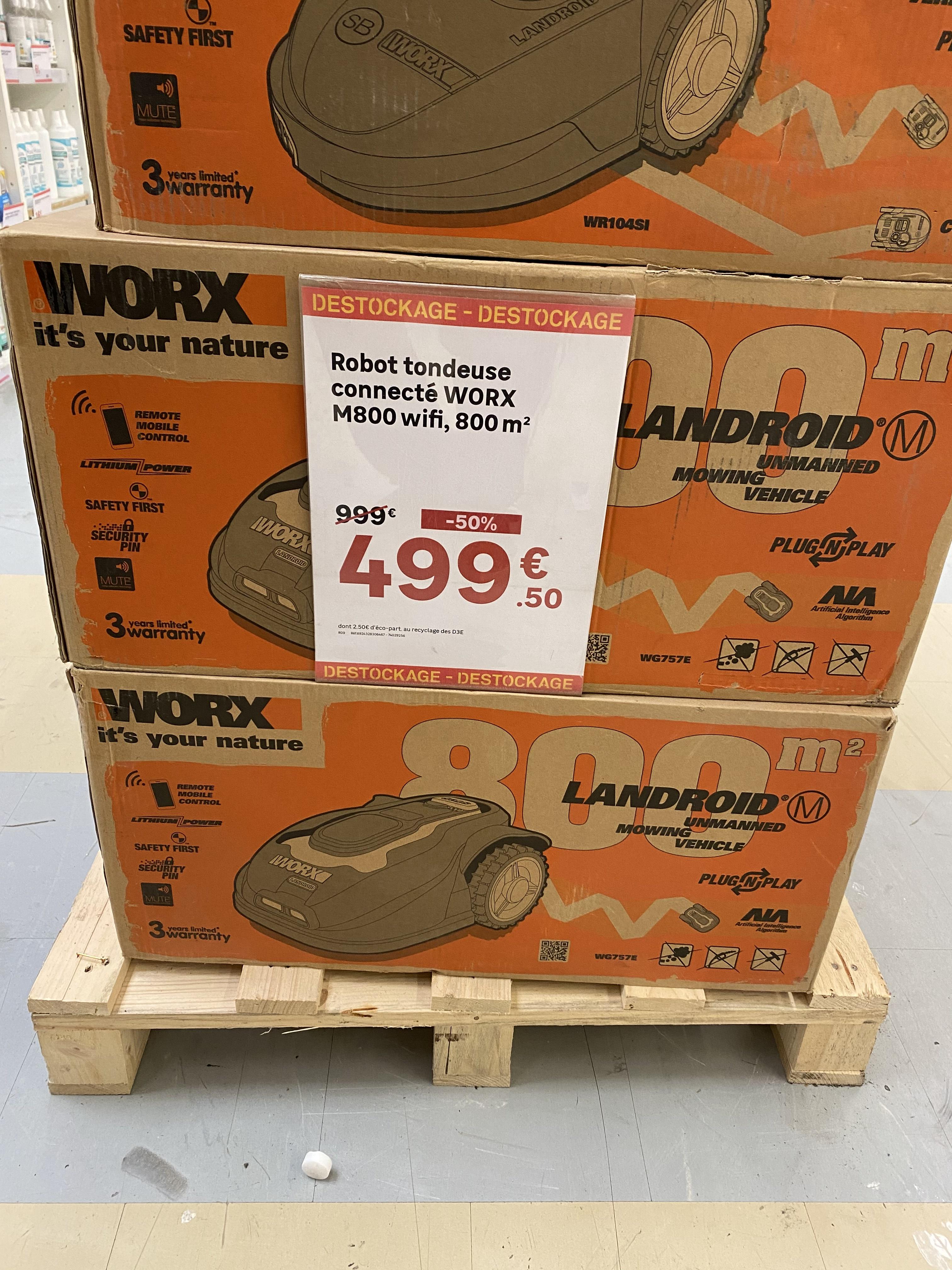 Robot Tondeuse connecté Worx M800 Wifi - Jaux (60)