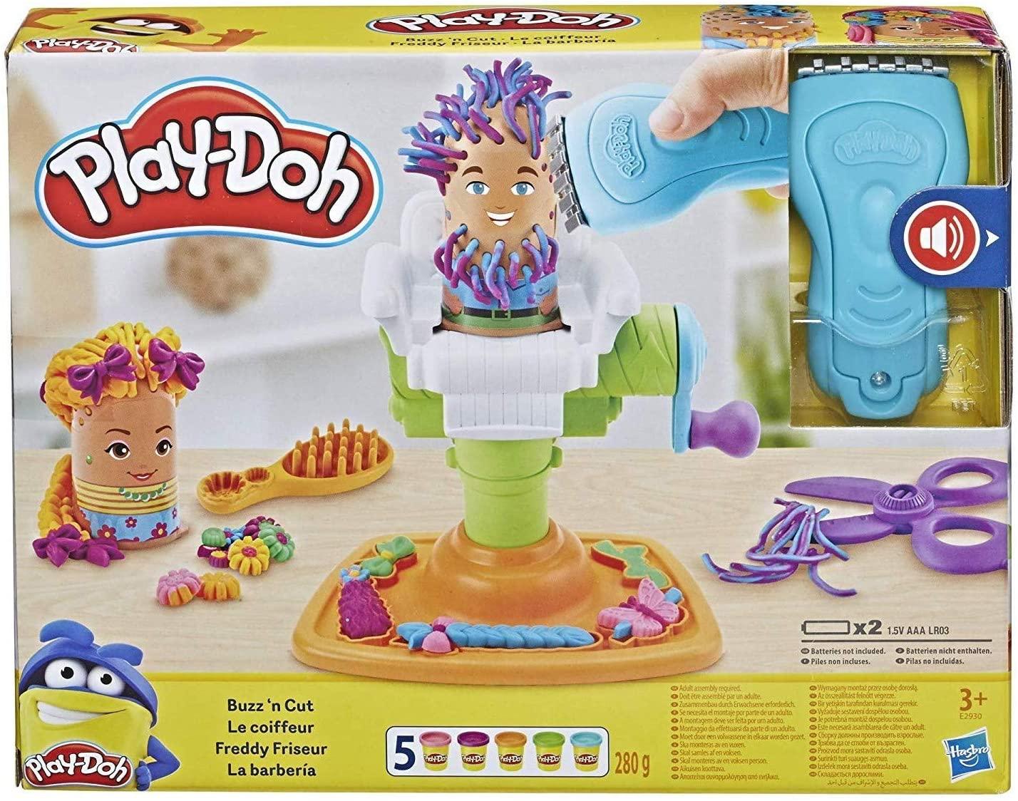 Pâte à modeler Playdoh - Le Coiffeur (14 pièces)