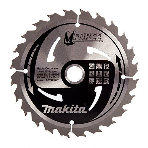 Lame de scie circulaire carbure Makita M-Force - 24 dents, 165mm, alésage 20mm
