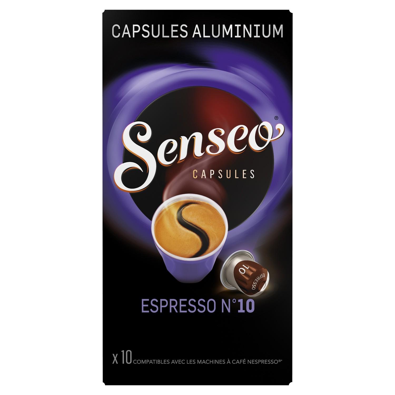 Paquet de 10 capsules de café Senseo Espresso n°10 (via Fidall / Fidme)