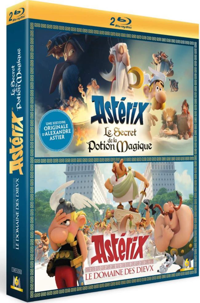 Coffret Blu-ray Astérix : Le Domaine des Dieux et Le Secret de la Potion Magique
