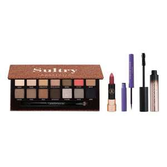 Coffret de maquillage Anastasia Beverly Hills (Palette Sultry + Mascara + Eyeliner + Rouge à lèvres)