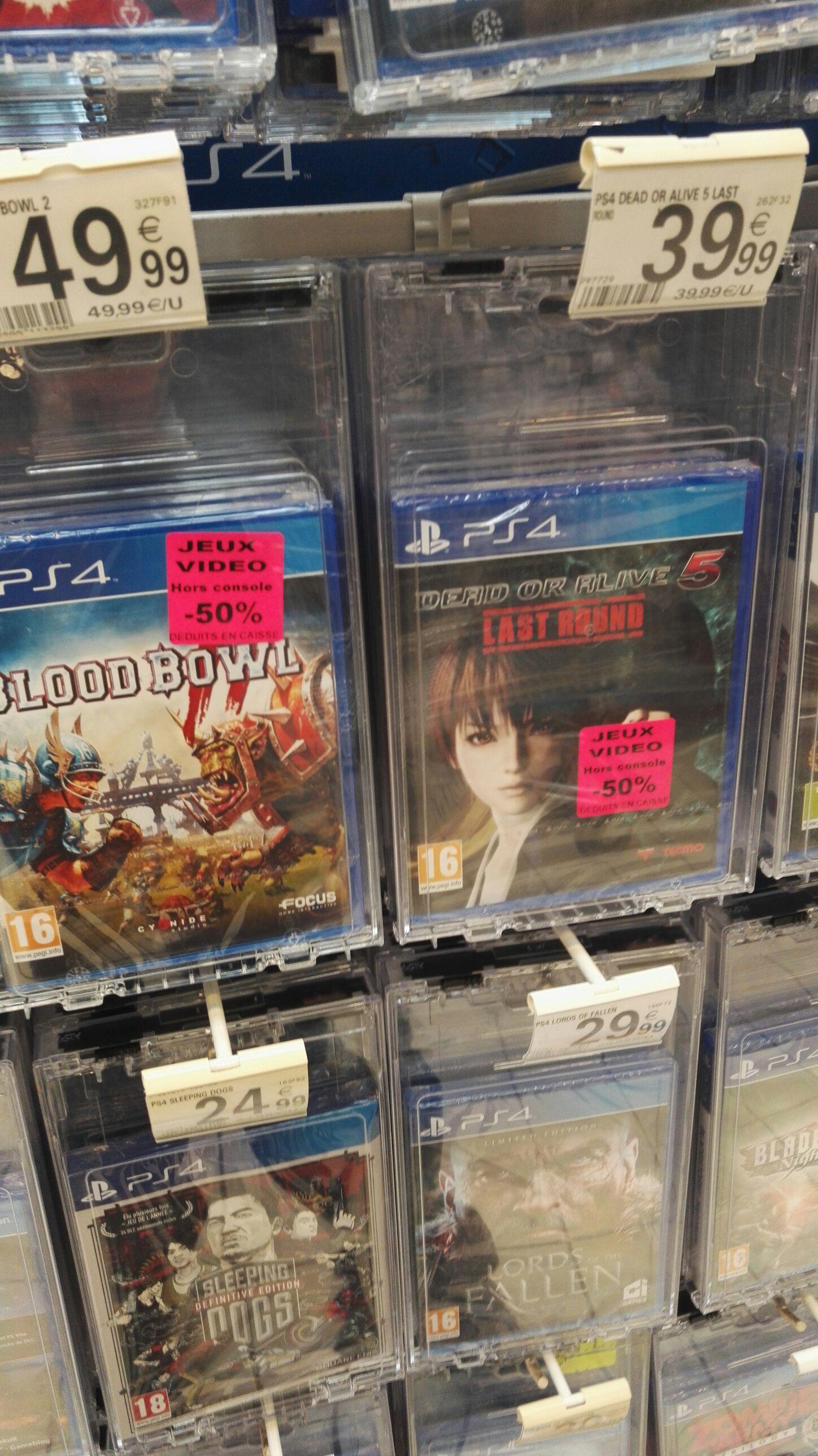 50% de réduction sur Dead or Alive 5 et Blood Bowl 2 sur PS4 - Ex: Dead or Alive 5
