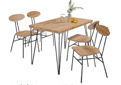 Ensemble table (110x70x75 cm) + 4 chaises