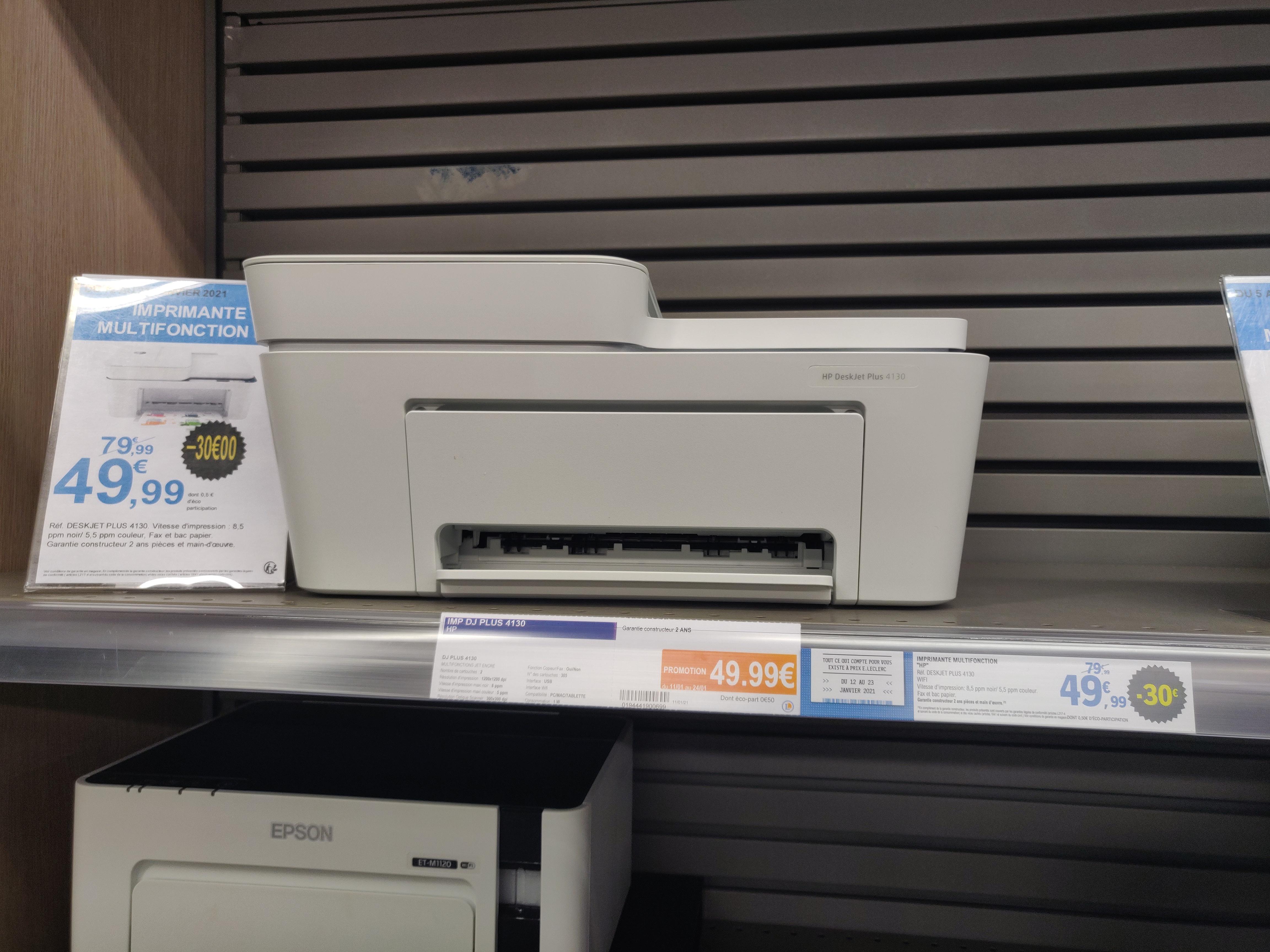 Imprimante multifonction à jet d'encre HP DeskJet Plus 4130 (avec 6 mois d'abonnement au service Instant Ink) - Rezé (44)