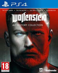Wolfenstein : Alt History Collection sur PS4 (New order+Old blood+New colossus+Youngblood)