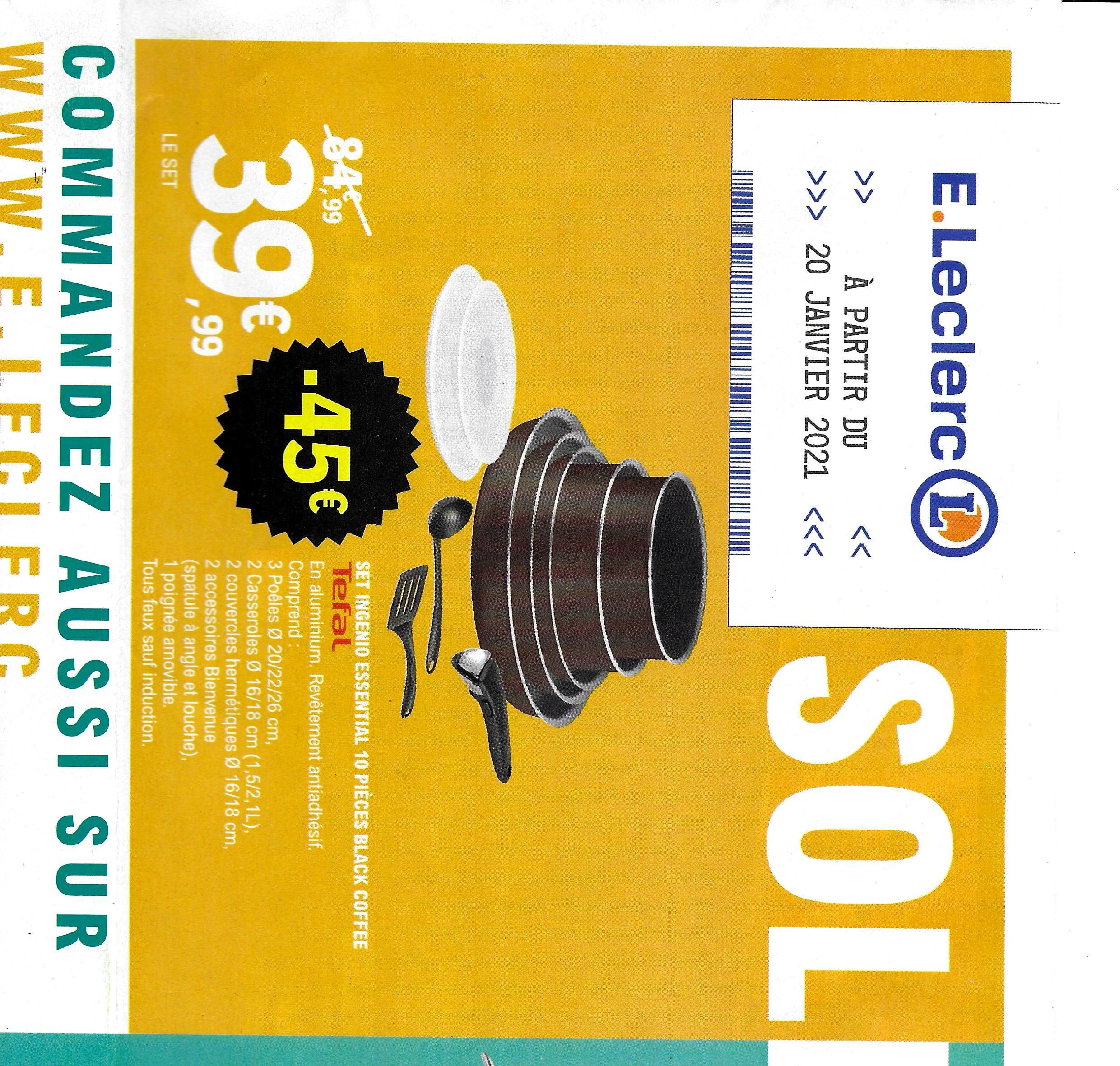 Batterie de cuisine Tefal Ingenio Essential Black Coffee - 10 pièces, tous feux sauf induction