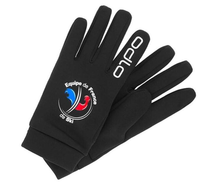 Gants running/ski Odlo Strechfleece Liner Warm Fan 2021 - Noir (Tailles au choix)