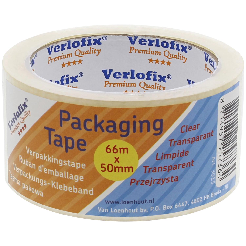 Ruban adhésif pour emballage Verlofix - 66 m, épaisseur de 50 mm