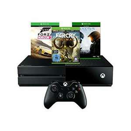 Console Xbox One 500 Go + Forza Horizon 2 + Far Cry Primal (100% Uncut) - Special Edition + Halo 5: Guardians