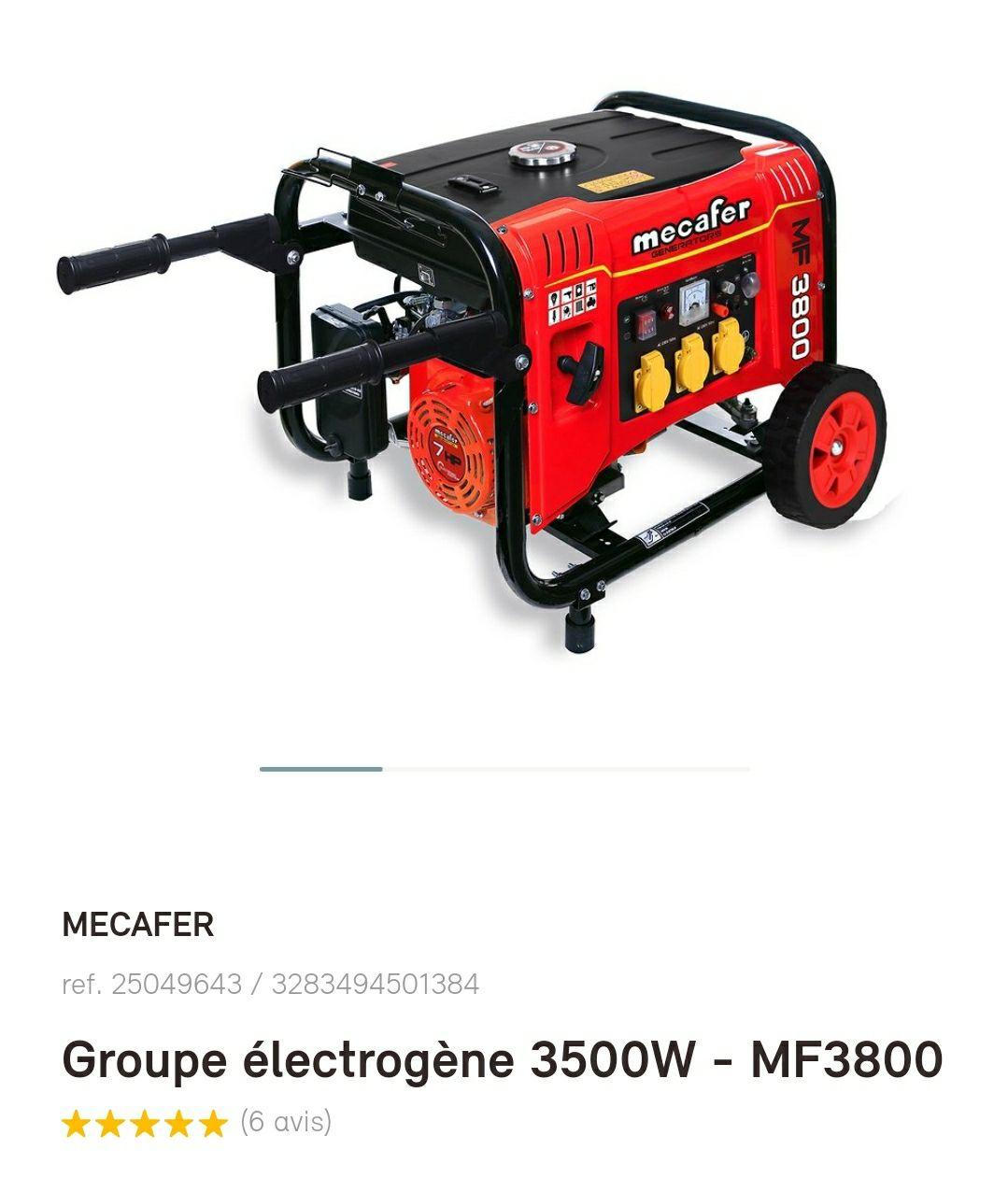 Groupe électrogène Mecafer MF3800 - 3500W