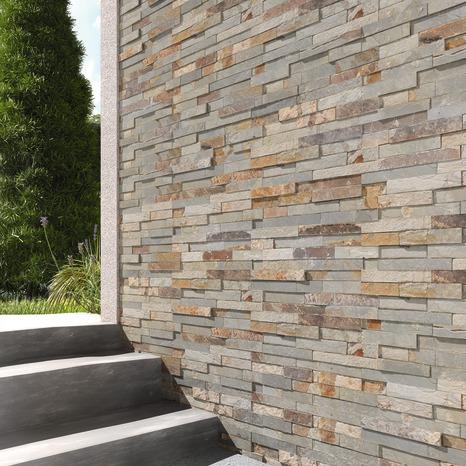 Le m² de plaquette de parement pierre naturelle beige rosé