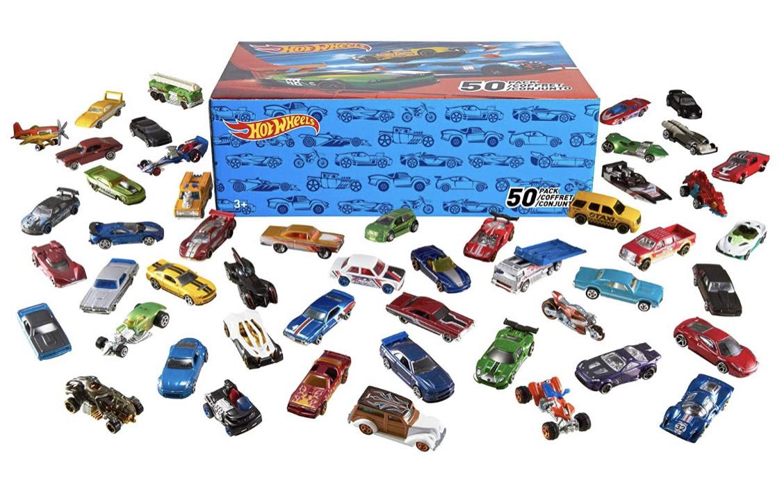 Pack de 50 Voitures Hot Wheels - modèles aléatoires