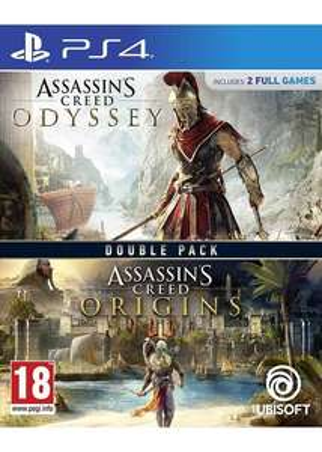 Double Pack : Assassin's Creed : Origins + Assassin's Creed : Odyssey sur PS4 + 1.68€ en Rakuten Points (28.51€ via RAKUTEN5)