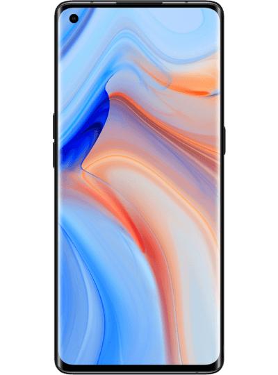 """Smartphone 6.5"""" Oppo Reno4 Pro 5G (full HD+, SnapDragon 765G, 12 Go de RAM, 256 Go, bleu ou noir) + casque audio Bang&Olufsen Beoplay H4 V2"""