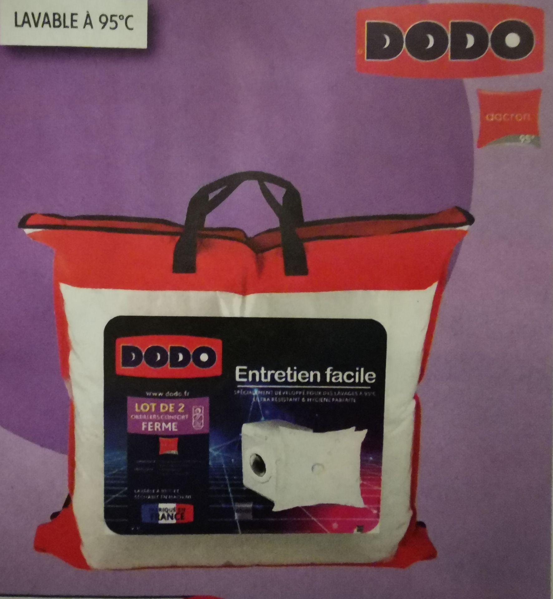 Lot de 2 oreillers fermes Dodo - 60 x 60cm