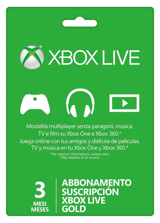 Carte Abonnement Xbox Live 3 mois
