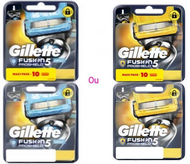 Lot de 10 Lames de Rasoir Gillette Fusion Proshield ou Proshield Chill (via 27,92€ Carte Fidélité)