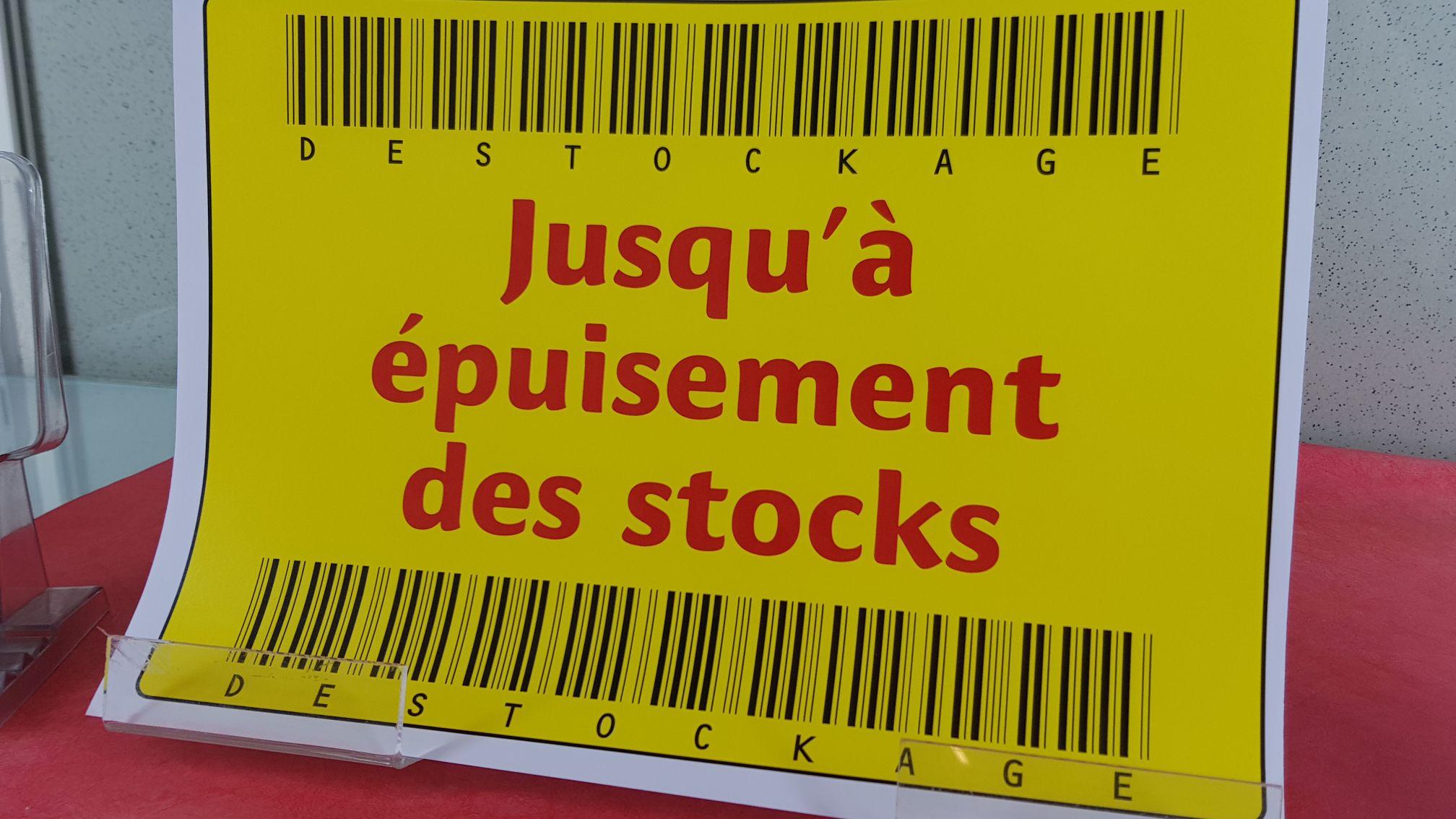 Sélection de produits à 1€ en Déstockage - Carautoroutes Brumath Ouest A4 (67)