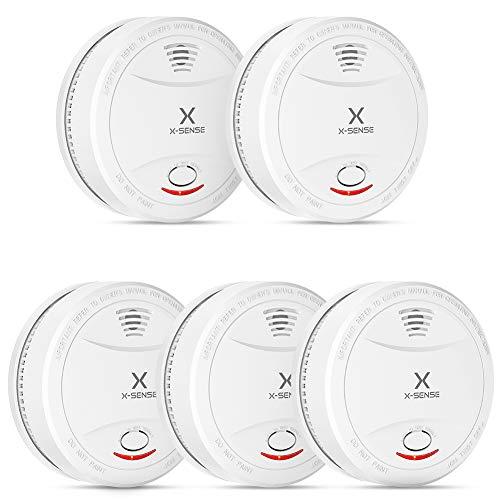 Lot de 5 Détecteurs de fumée X-Sense - TÜV EN14604, certifié avec Batterie 10 Ans (Vendeur tiers)