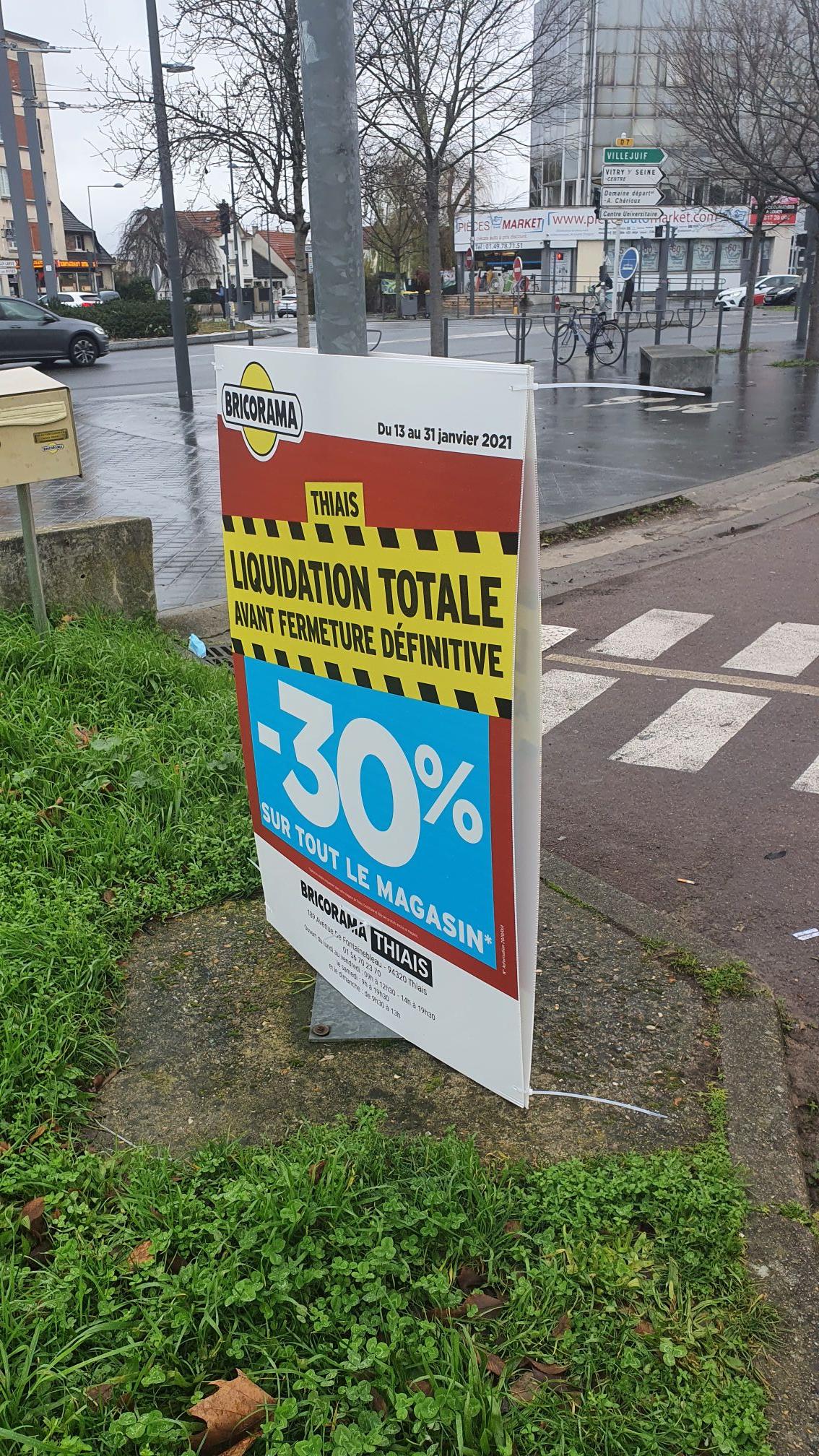 70% de réduction sur tout le magasin - Thiais (94)