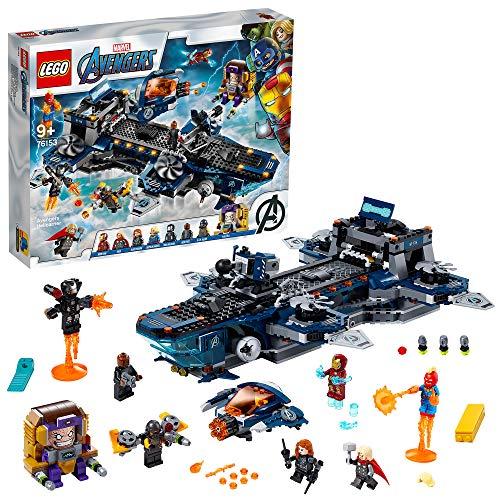 Jeu de construction Lego Marvel Super Héros Avengers - L'héliporteur des Avengers (76153)