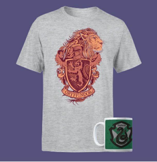 Sélection de T-Shirts & Mugs Harry Potter en promotion - Ex: Bundle T-Shirt + Mug Harry Potter Gryffindor